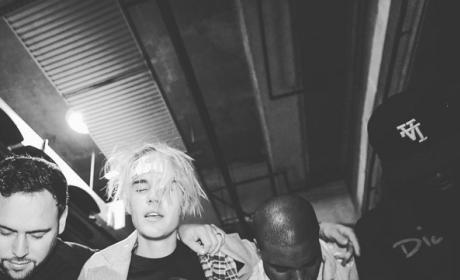Justin Bieber and Kanye West