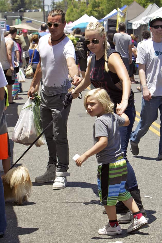 Gavin Rossdale and Mindy Mann: Studio City Farmers Market