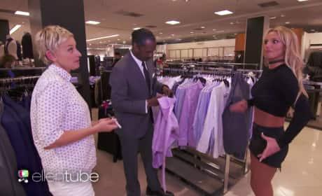 Britney Spears and Ellen Go Shopping