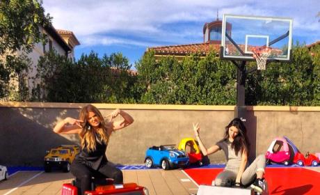 Khloe Kardashian and Kendall Jenner Photo