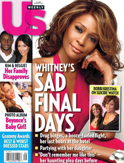 Whitney Houston Us Weekly Cover
