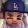 Dream Kardashian Dodgers Photo