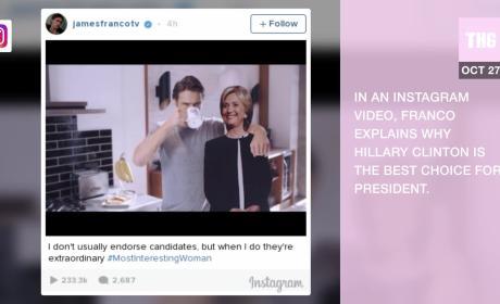 James Franco Endorses Hillary Clinton... In Unique Fashion