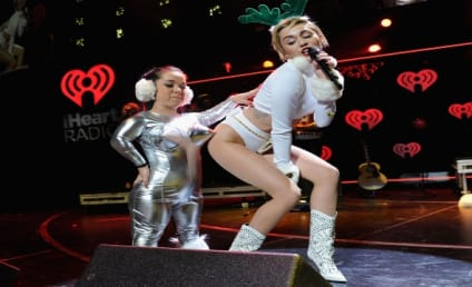 """Miley Cyrus Dresses Like Scantily-Clad Reindeer, Performs """"Wrecking Ball"""""""