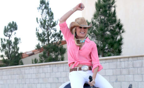 Tamra Barney Reacts to Heather Dubrow Bull Stunt