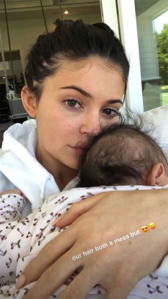 Kylie Jenner Cradles Stormi Webster