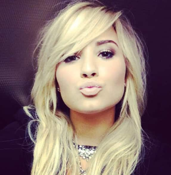 Demi Lovato with Blonde Hair
