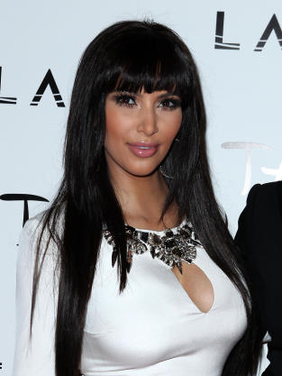 Kim Kardashian with Bangs