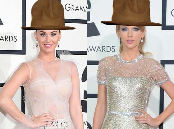 Katy Perry and Taylor Swift in Pharrell's Hat