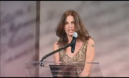Kim Delaney Tries, Fails to Honor Robert Gates; Escorted Off Stage During Speech