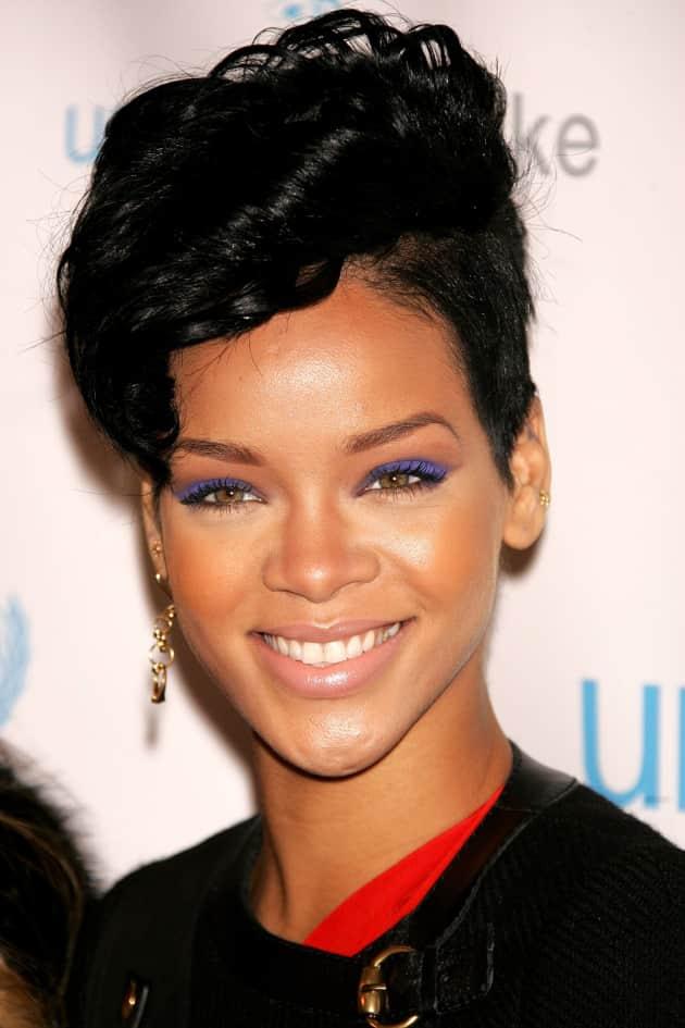 Rihanna Tilted Hair