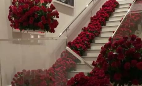 Kylie Receives Roses