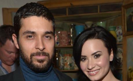 Wilmer Valderrama and Demi Lovato in Happier Times