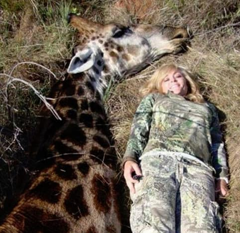 Tess Thompson Talley beside her kill