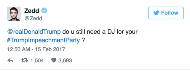 DJ Zedd Chimes In