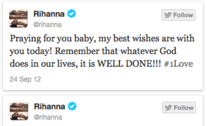 Rihanna Tweets Prayers to Chris Brown Before Court Hearing