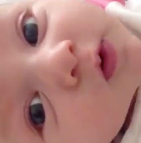Baby Saying Hey