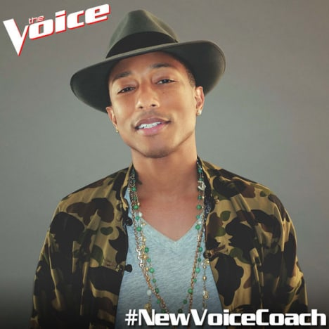 Pharrell: New Voice Coach!