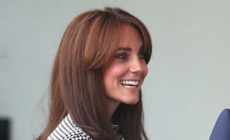 Kate Middleton With Bangs