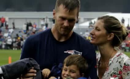 Gisele Bundchen, Son Benjamin Surprise Tom Brady at Training Camp