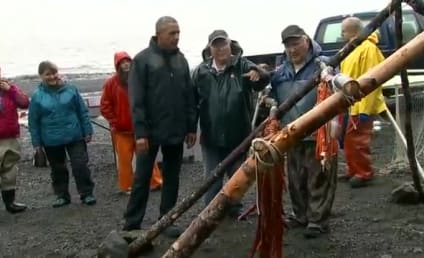 Fish Ejaculates on Obama; Pres Plays it Surprisingly Cool