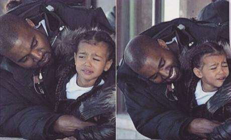 "Kim Kardashian Instagrams Photo of Kanye West ""Annoying"" North West"