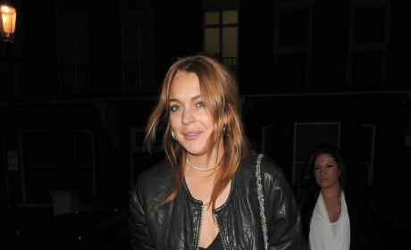 Lindsay Lohan Hits the Streets of London