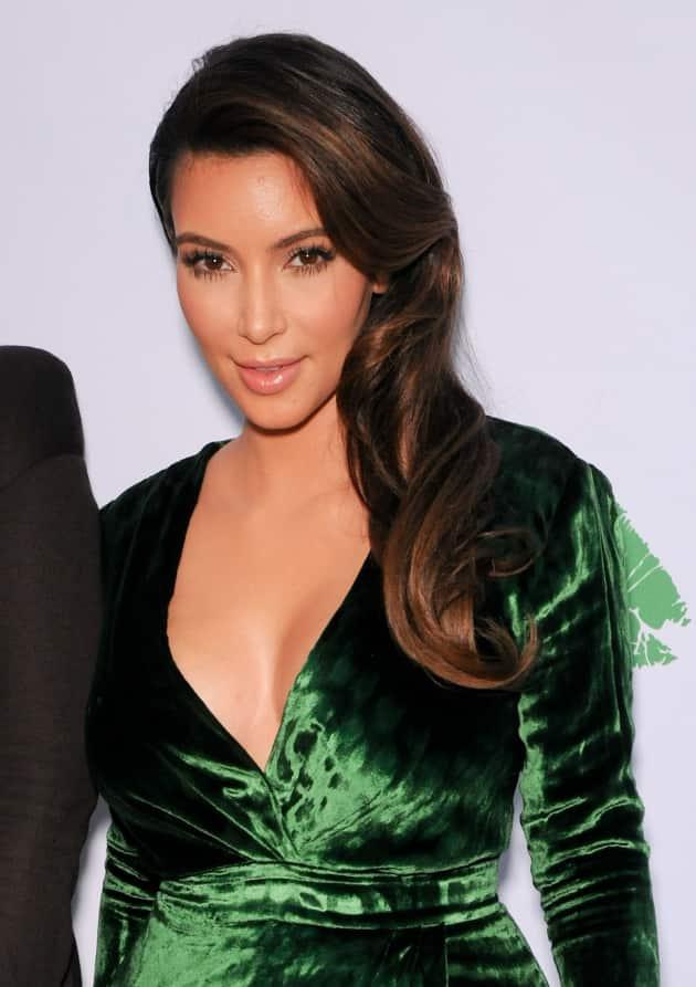 Kim Kardashian Green Dress