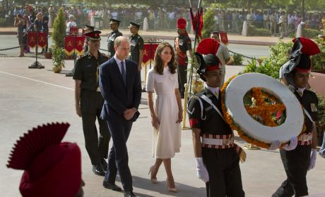 Prince William and Kate Middleton Attend Wreath Laying Ceremony