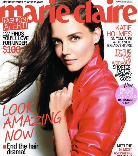 Katie Holmes Marie Claire Cover