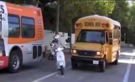 Gwyneth Paltrow Cuts Off School Bus