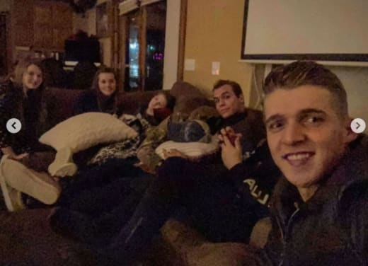 Carver Takes a Selfie at the Duggars' House