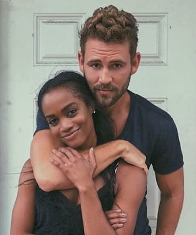 Rachel Lindsay with Nick Viall