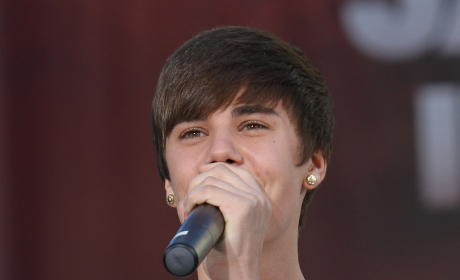 Justin Bieber at Grauman's Chinese Theater