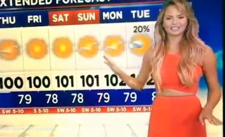 Chrissy Teigen is a Terrible Meteorolgist