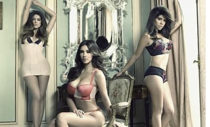 Khloe, Kourtney and Kim Kardashian: Klad in Lingerie!