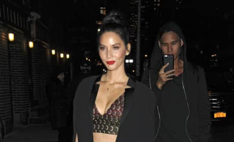 Olivia Munn Outside 'The Late Show with Stephen Colbert'