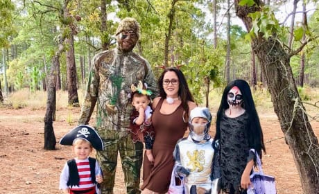 Jenelle Evans and Family on Halloween