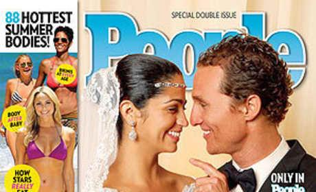 Matthew McConaughey and Camila Alves Wedding Photo