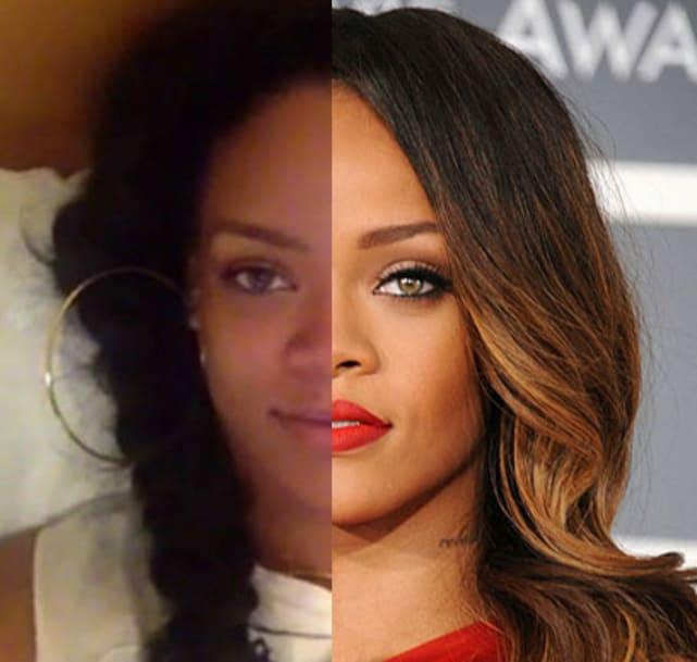 Rihanna with no makeup