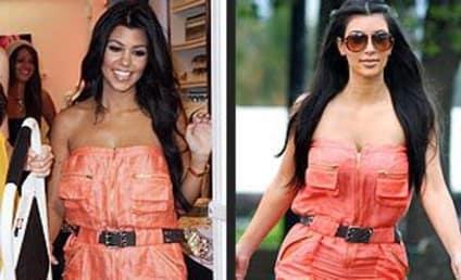 Fashion Face-Off: Kourtney Kardashian vs. Kim Kardashian
