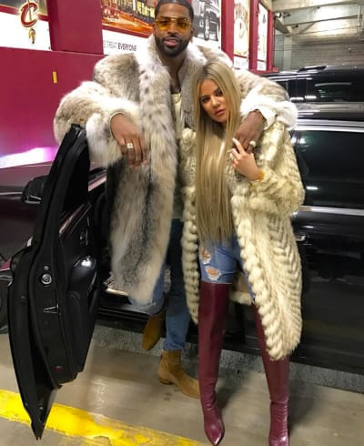 Khloe and Tristan on Christmas