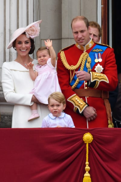 Kate Middleton Prince William Princess Charlotte Prince George Trooping Colour 2016