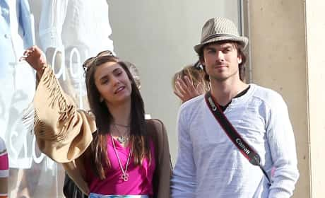 Ian Somerhalder and Nina Dobrev in Paris