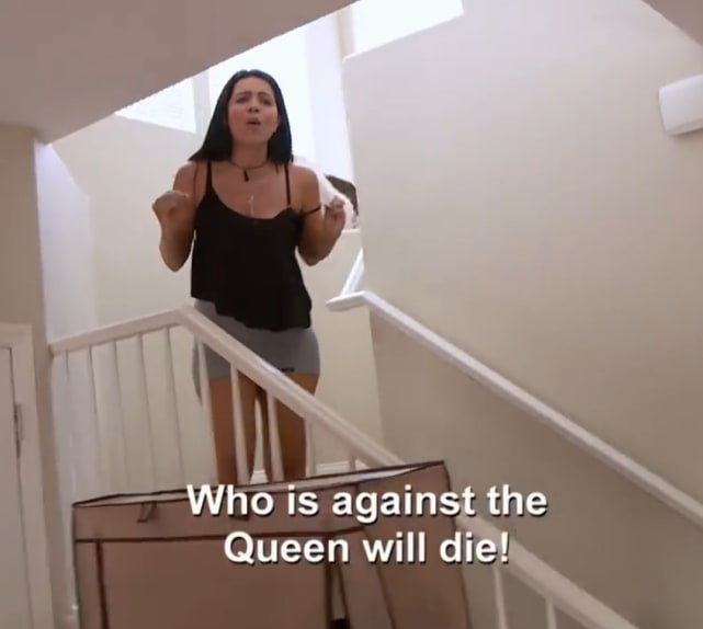 Larissa lima any who is against the queen will die