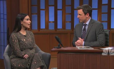 Kim Kardashian on The Late Night (Part 1)