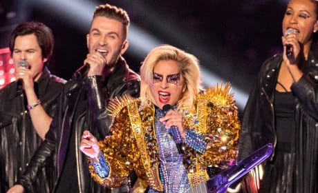 Lady Gaga on Super Bowl Stage