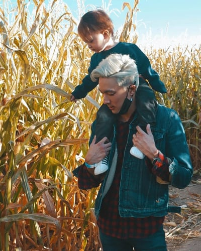 Topher Park with Taeyang Lee on a Walk