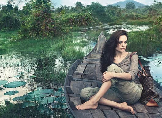 Angelina Jolie For Louis Vuitton