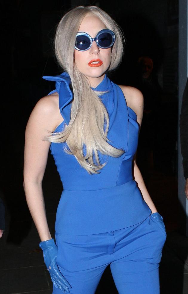 Lady Gaga, Blue Pantsuit